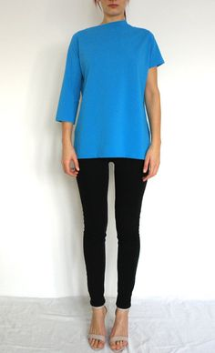 Asymmetric Electric Blue Top/Casual Electric Blue by themodedesign