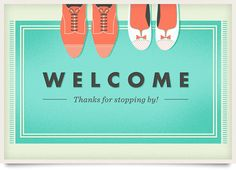 Adorable welcome mat illustration by One Plus One Design