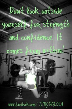 Strength comes from within! #crossfit #wodlove #strength