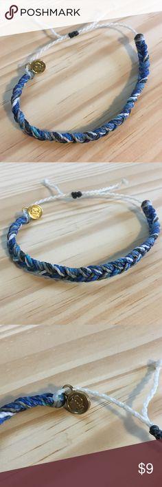 Pura Vida | Blue Braided Bracelet Pura Vida adjustable braided blue strands bracelet. NWOT. Offers welcome, or bundle 3 or more items for 20% off!!  No trades, outside transactions, or holds. Pura Vida Jewelry Bracelets