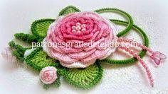 Patrones crochet de sombrero y aplique de flores - paso a paso   Crochet y Dos agujas