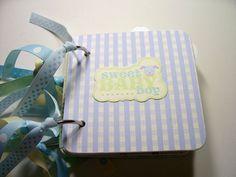 Baby Boy Premade Mini Scrapbook Album Baby Boy by HampshireRose, $20.00