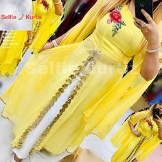 *Selfie 🤳 Kurtis💃🏼* *Febric 😍details:- * Pure georgette 💐 Cape Kurtis Designer pettern 💃 With floral lace With reyon plazo *And Designer sleeves* Size :- L Xl Xxl *Price :- ship extra Ready to ship 🚢 Multiple pics available Western Dresses, Indian Dresses, Indian Outfits, Pakistani Dresses, Stylish Kurtis, Stylish Dresses, Mehendi Outfits, Latest Kurti, Kurti Collection