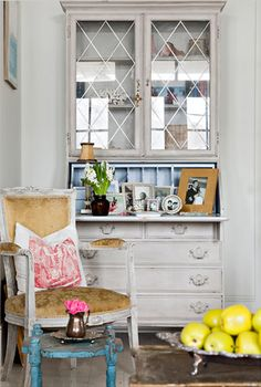 Suzie: Karina Gentinetta - Gorgeous living space with vintage secretary desk painted lovely ...