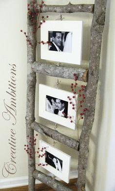 Wooden Ladder Picture Frames