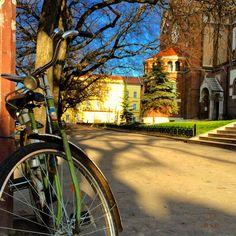 Szeged. Hungary. Csepel bicycle.
