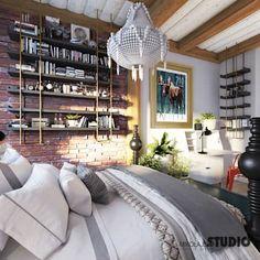 Znalezione obrazy dla zapytania sypialnia w stylu rustykalnym
