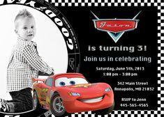 Disney Cars Birthday Invitation - Printable File. $9.99, via Etsy.