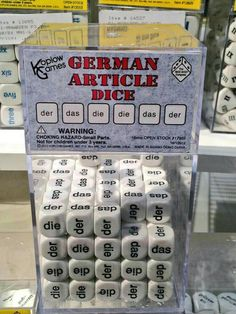 German Article Dice: How they *really* figured out the gender for nouns...