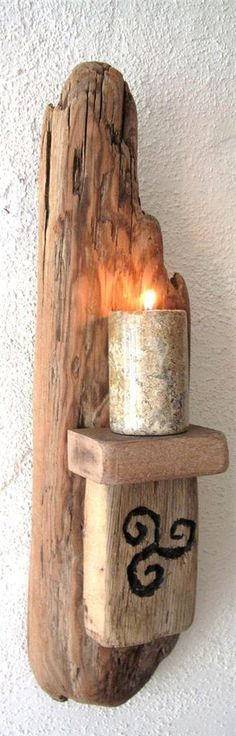 Must make my own.  Lovely natural sconce!