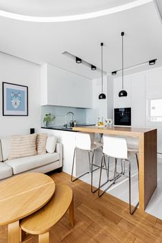 small dining table designs that you need for your small space page 3 Apartment Kitchen, Living Room Kitchen, Apartment Interior, Home Decor Kitchen, Kitchen Ideas, Small Apartment Design, Kitchen Design Open, Interior Design Kitchen, Open Kitchen