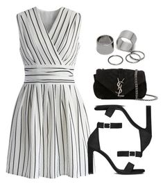 """""""Sin título #12718"""" by vany-alvarado ❤ liked on Polyvore featuring Chicwish, Yves Saint Laurent and Pieces"""