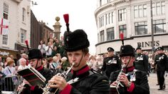3 Rifles parade through Darlington town centre.