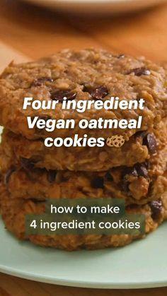 Fun Baking Recipes, Vegan Dessert Recipes, Good Healthy Recipes, Vegan Sweets, Gluten Free Desserts, Healthy Desserts, Sweet Recipes, Cookie Recipes, Vegetarian Cookies