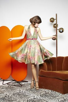 So cute!! Alice + Olivia BLISS GATHERED HALTER FLARE DRESS WITH BELT