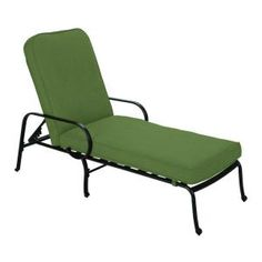 Fall River Adjustable Patio Chaise Lounge With Moss Cushion