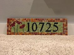 Custom Mosaic Address Plaque by melissaforcier on Etsy