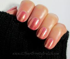 Zoya Tinsley #nails #shimmer #nailpolish - bellashoot.com #orange #peach