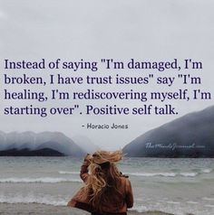 Positive talk. I'm currently the first part. One day I'll be at the second part...