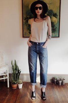 The Perfect Vintage Levi's 501 Boyfriend Jeans by gathercollective, $45.00