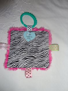 Baby Girl Toys  Taggy Toy  crinkles inside by Sassydoodlebaby, $3.99