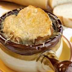 This best french onion soup is a work of love and takes some time to prepare but the flavor is fantastic.  This is a large recipe amount, so you may have some leftover soup which freezes well.