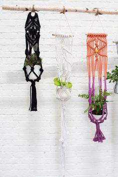 Macrame Plant Hanger - White #macetas