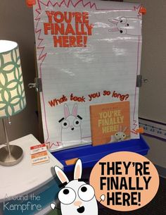 You're Finally Here! by Melanie Watt is the perfect first day of school book! See all the first week fun we had with this little gem of a book!