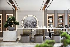 Modern Chinese Interior, Japanese Interior Design, Asian Interior, Office Interior Design, Luxury Interior, Interior Design Living Room, Interior Architecture, Zen Interiors, Office Interiors