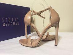 Stuart Weitzman Nudist Adobe Aniline Patent Leather Women's Heels Sandals 5.5 M #StuartWeitzman #FashionHeelsSandals #CasualFashion