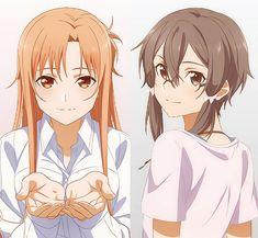 Asuna is very beautiful and do something on the anime lol Sinon Ggo, Kirito Asuna, Vocaloid, Asada Shino, Gun Gale Online, Sword Art Online Wallpaper, Sword Art Online Kirito, Anime Manga, Anime Lol