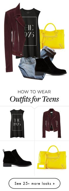 """Untitled #540"" by isabellatude on Polyvore featuring moda, Balenciaga, Levi's, Lucky Brand, women's clothing, women, female, woman, misses i juniors"