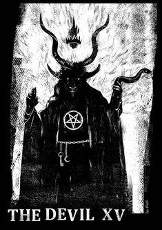 Tarot Card: The Devil Xv Framed Art Print by Ben Mcleod - Vector Black - Tarot, Tarot Art, Buy Tarot Cards, Art, Card Art, Card Illustration, Tarot Cards Art, Framed Art Prints, Pagan Witch