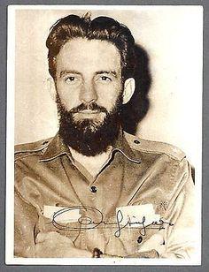 Comandante Camilo Cienfuegos with his sign.
