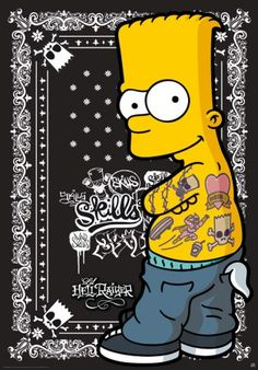 Poster affiche The Simpsons Bart Mad skills Simpsons Tattoo, Simpsons Art, Rock Posters, Simpson Wallpaper Iphone, Simpsons Characters, Poster Art, Famous Cartoons, Hypebeast Wallpaper, American Dad