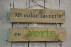 cartel mi color favorito