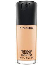Mac Pro Longwear Foundation, 1 oz - N Mac Pro Longwear Foundation, Mac Foundation, Find Your Foundation Shade, Long Lasting Foundation, Mac Cosmetics, Mac Makeup, Eyeshadow Makeup, Blue Eyeshadow, Beauty Makeup