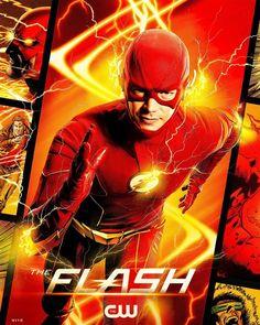 The Cw, O Flash, Flash Art, The Flash Poster, Dc Comics, Flash Tv Series, Supergirl Season, Flash Wallpaper, Reverse Flash