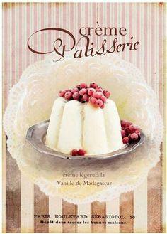 Vintage Kuchen Paris french Beeren Shabby DIN A4                                                                                                                                                     More