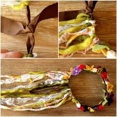 DIY Fairy crowns | To finish the crown, tie the ribbon around your sweetie's head. I made ...