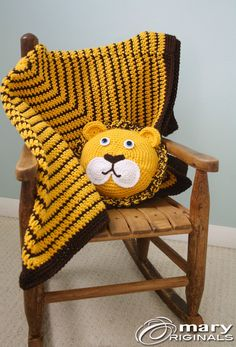 King of the Jungle Baby Set Lion Pillow Baby by MaryOriginals