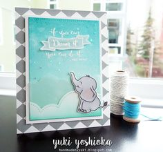 Dream it by Handmade by Yuki | Elephant Hearts and Enjoy Calligraphy by Sweet Stamp Shop