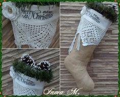 Bota Navidad Vintage.