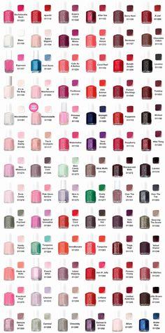 Essie Nail Polish Swatches - 2019 Update I only ever use Essie (or occasionally OPI). They make for the best, super long lasting manicures!I only ever use Essie (or occasionally OPI). They make for the best, super long lasting manicures! Essie Nail Polish Colors, Essie Nail Colors, Matte Nail Polish, Nail Polish Brands, Opi Nails, Nail Nail, Nail Polish Color Names, Gel Polish, Nail Glue