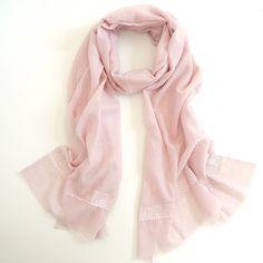 MaiTai Collection wool/silk stole in rose
