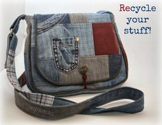 Tasche aus alten Hosen / Bag made from old trousers