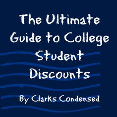 As a college student, it's always smart to look for the best deals and discounts. Check out this awesome blog post on all types of discounts for students- from food, to electronics, to clothing and entertainment!