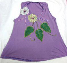 Bata lilás floral
