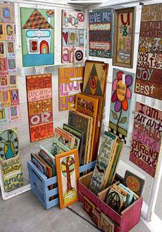 Things With Wings: art market display