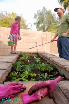 Tutorial for building a raised garden bed or herb garden using concrete cinder blocks and stone veneer. It's an easy DIY project that doesn't require any special masonry skills.